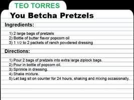 "KCRA Anchor Teo Torres shares this recipe for 'You Betcha' Pretzels. ""Enjoy while you can. It goes fast!!!"""