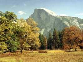 13. Half Dome -- Yosemite National Park is full of extraordinary spots for photography, but perhaps the most well-known piece of the park is the rounded mountain.