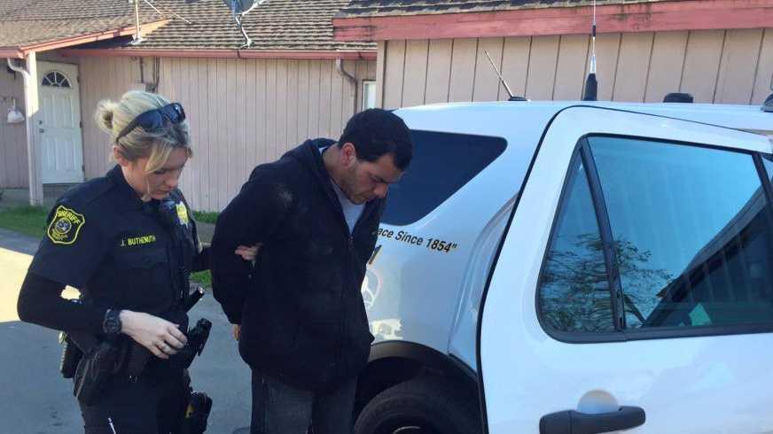 Stanislaus County Sheriff's deputies arrested Efrain Marcucci Jr., 37, of Modesto for animal cruelty.
