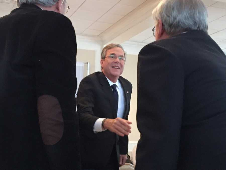 GOP presidential candidate Jeb Bush at a campaign event in New Hampshire.