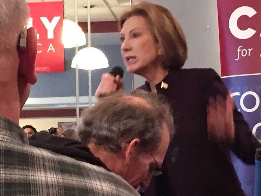Carly Fiorina at a campaign event in New Hampshire.