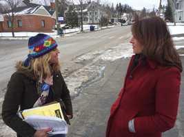 KCRA's Edie Lambert interviews a Bernie Sanders volunteer from Northern California.