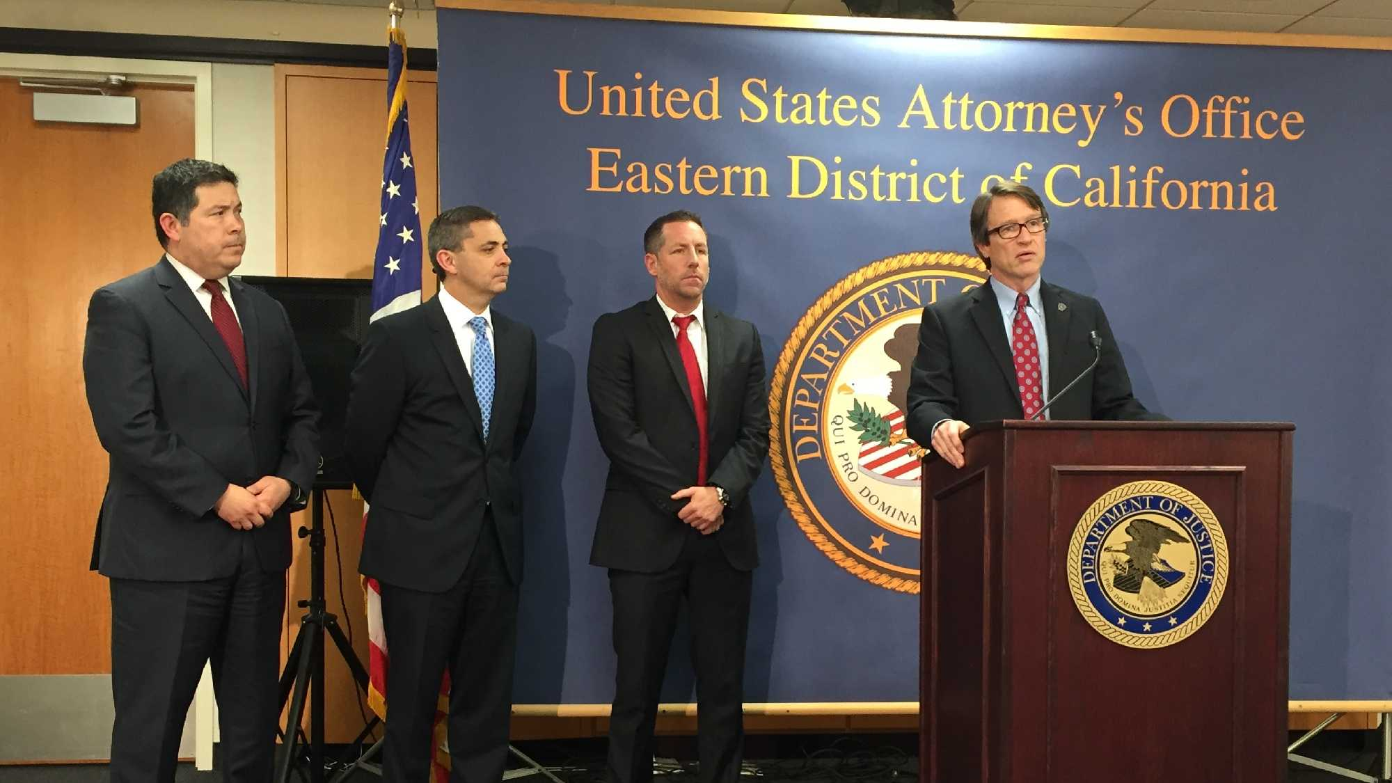 U.S. Attorney Benjamin Wagner announced Thursday an indictment against Helaman Hansen, the CEO of Americans Helping America Chamber of Commerce. (Feb. 11, 2016)