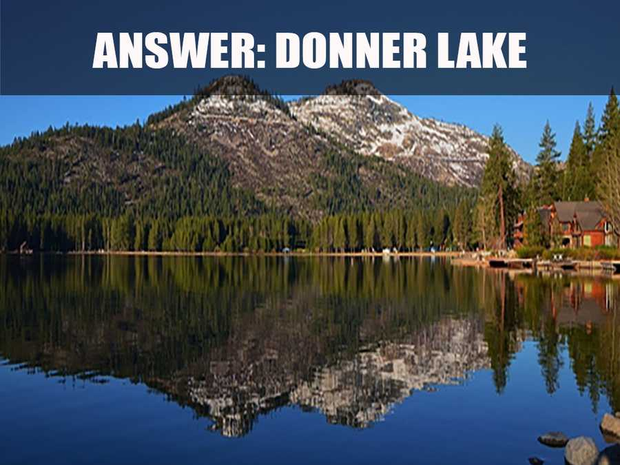 Donner Lake is just under 3 miles long and about ¾ miles wide. (Source: http://www.donner-lake.com/oncearoundourlake.asp)