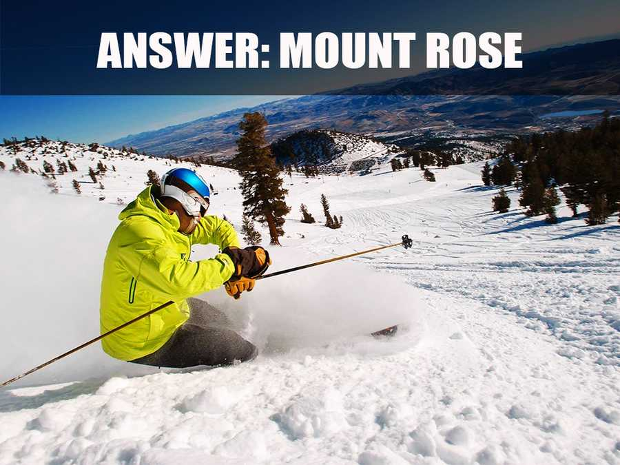 Mt. Rose's base elevation is 8,260 feet and the summit is 9,600 feet. (Source: http://skirose.com/mountain-info/)