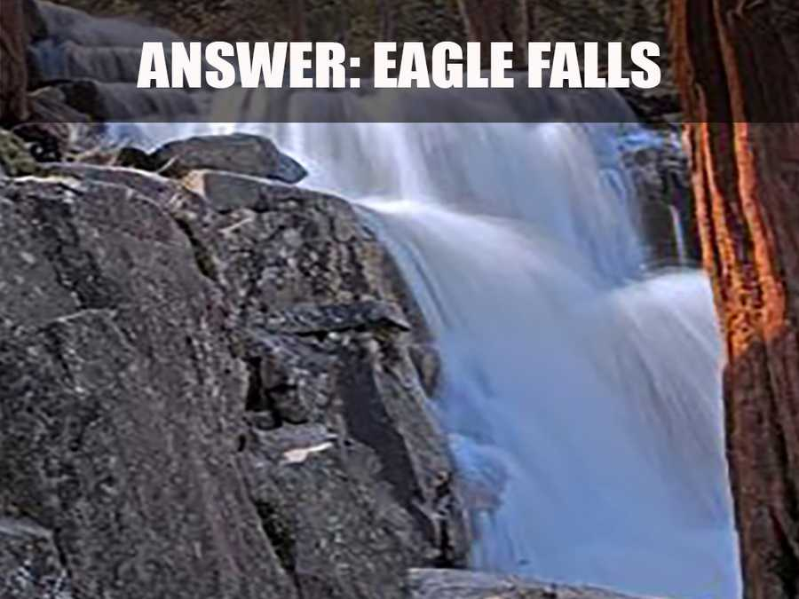 The upper section of the falls is 58 feet and the bottom is 82 feet high. (Source: http://www.waterfallswest.com/waterfall.php?id=221)
