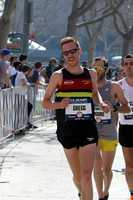 Brendan Gregg started the Olympic Marathon Trials with an injury and dropped out before the 10-mile mark.