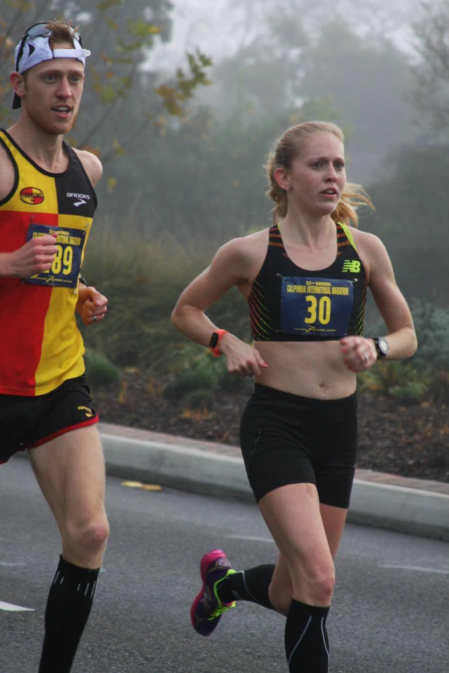 Brendan paced Kaitlin at the 2014 California International Marathon, where she qualified for the 2016 U.S. Marathon Trials.