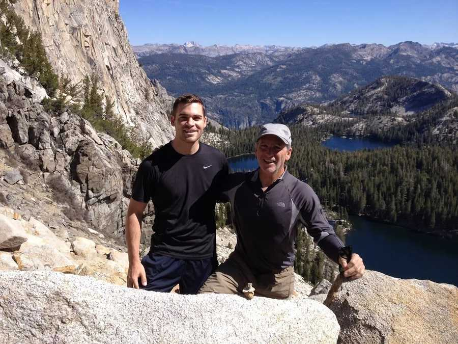 18.) Yosemite is my favorite vacation spot in California. This is my dad and me at a Ten Lakes overlook.