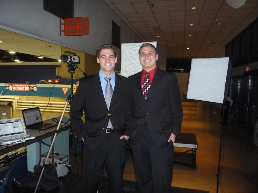 2.) In college, I worked as a play-by-play announcer for the Arizona State Sun Devils and for a junior hockey team.