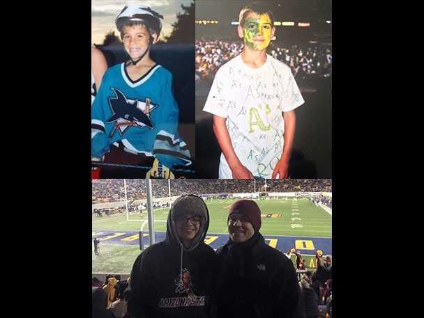 12.) I'm a hardcore San Jose Sharks, Oakland A's and Arizona State Sun Devil football fan.