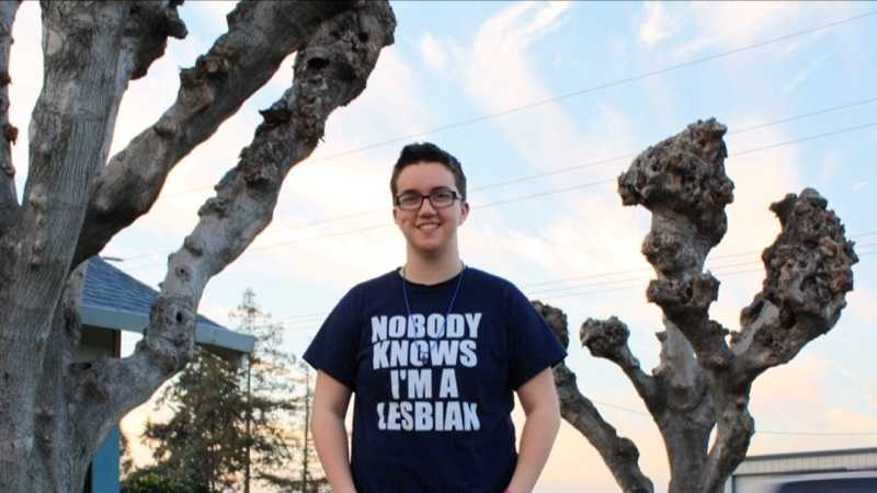 "Taylor Victor was sent home from Sierra High School in August 2015 after wearing a T-shirt that said ""Nobody Knows I'm A Lesbian"" to school. Her family sued the school district to clarify its dress code."