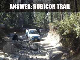 "The trail ""is an 8.3 mile out and back trail located near Tahoma, CA that features a lake."" (Source: http://alltrails.com/trail/us/california/rubicon-trail)"