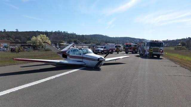 A plane crash landed at a Cameron Park airport on Thursday, Feb. 25, 2016, the El Dorado County Sheriff's Office said.