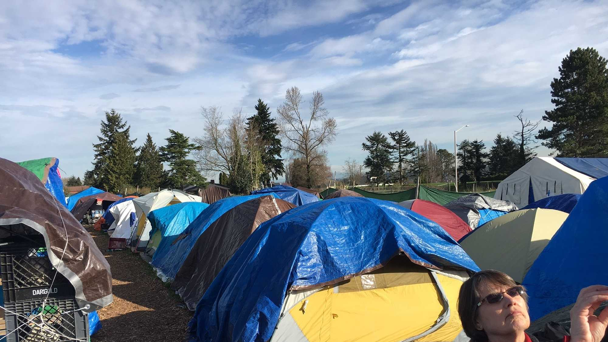 The city of Seattle has sanctioned homeless encampments like this for about 15 years.