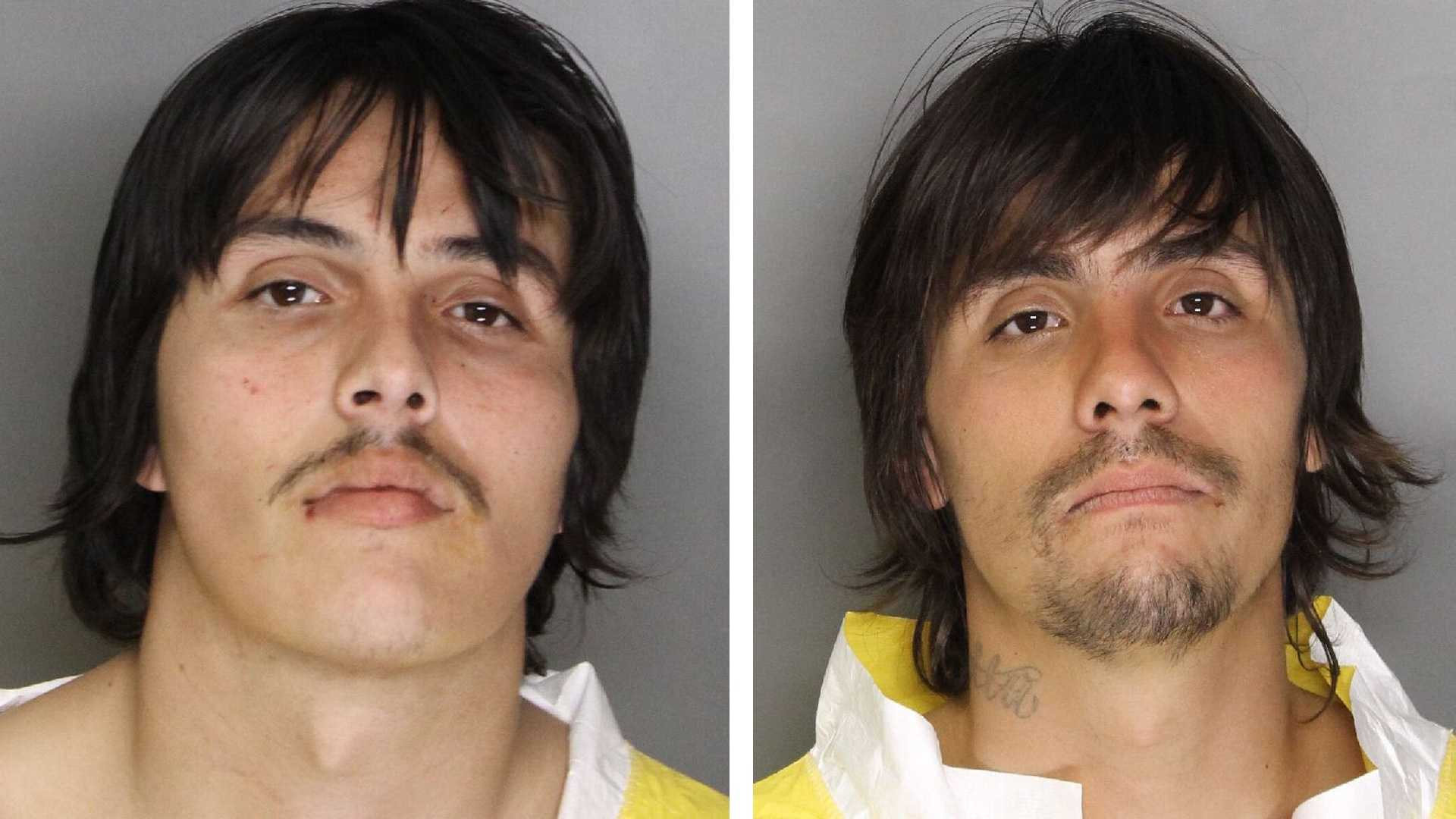 Cody Martinez (L) and Kevin Martinez (R) were arrested on Monday, Feb. 29, 2016, in connection to the stabbing and wounded their parents, the Sacramento Police Department.
