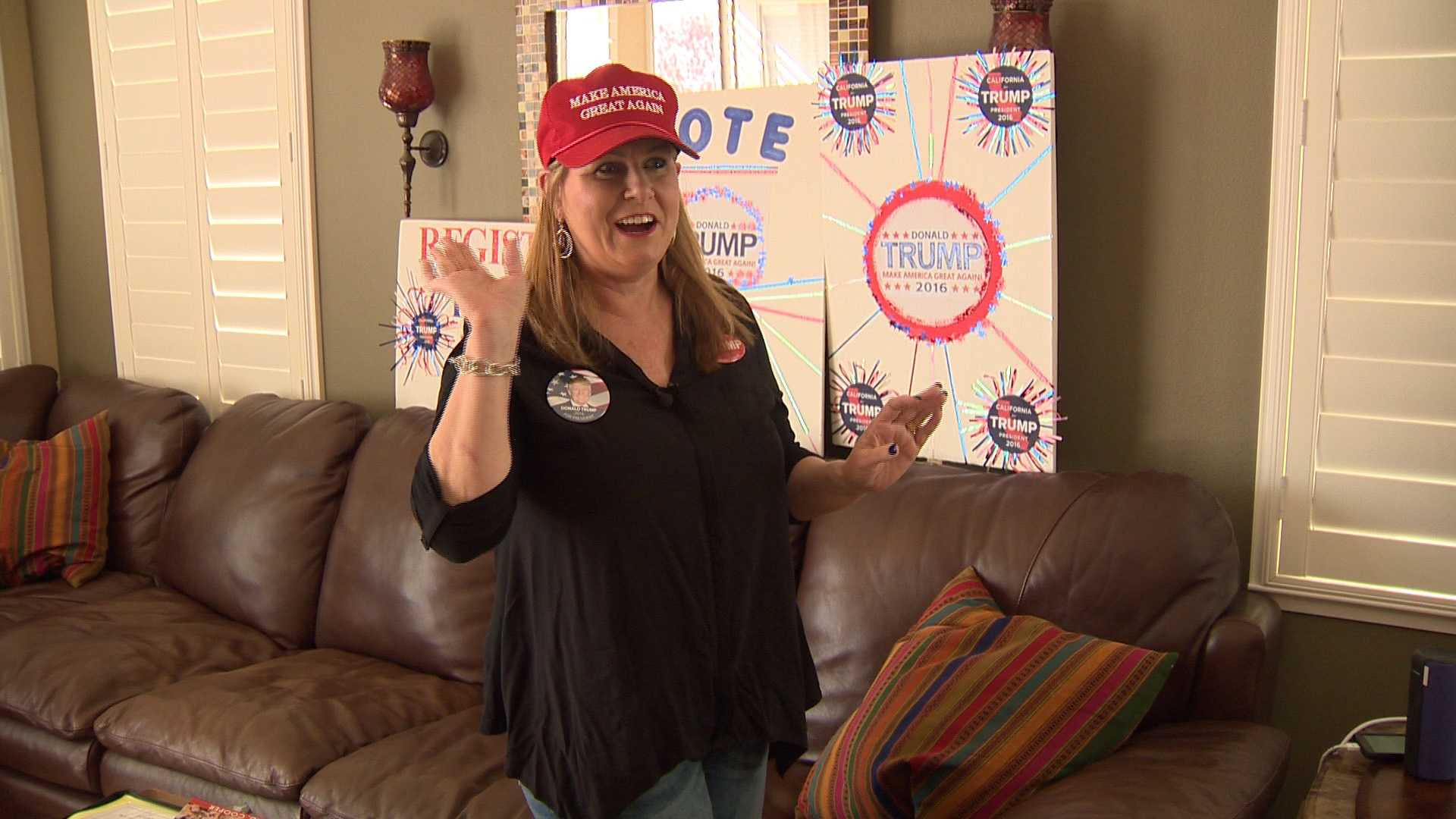 Diana Verba of Roseville said she switched her voter registration to Republican so she can vote for Donald Trump in California's June 7th primary.