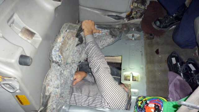A Brazilian man was found hiding in the partially modified gas tank of a SUV on March 1, 2016, the U.S. Customs and Border Protection said.