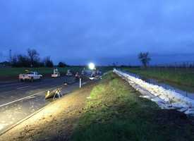 Highway 70 reopened late Sunday night after flooding prompted the northbound lanes to be shut down in Yuba County. (March 6, 2016)