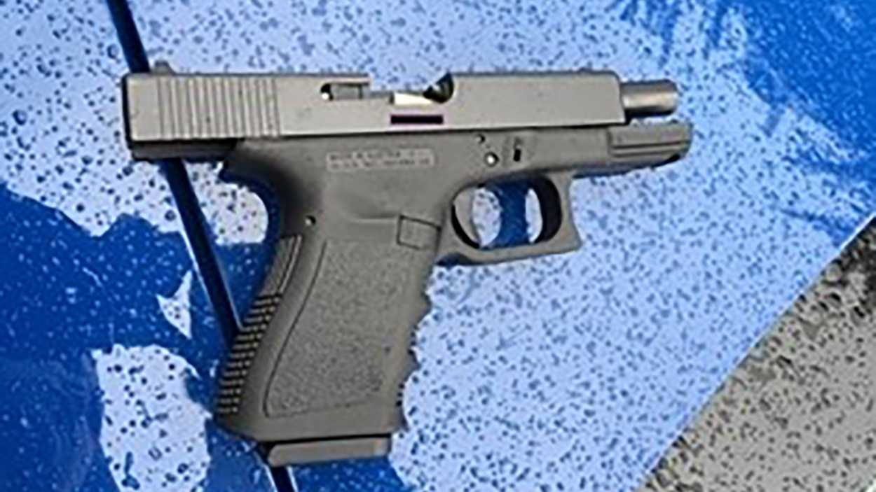 Suisun City police obtained this gun from the suspect, 34-year-old Desiree Hinton of Suisun City.