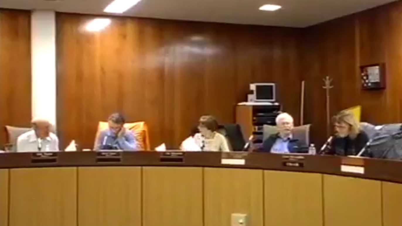 "Calaveras County Planning Commissioner Kelly Wooster (far left) made a comment comparing Mexicans to ""invasive species"" during a meeting on Thursday, March 3, 2016."