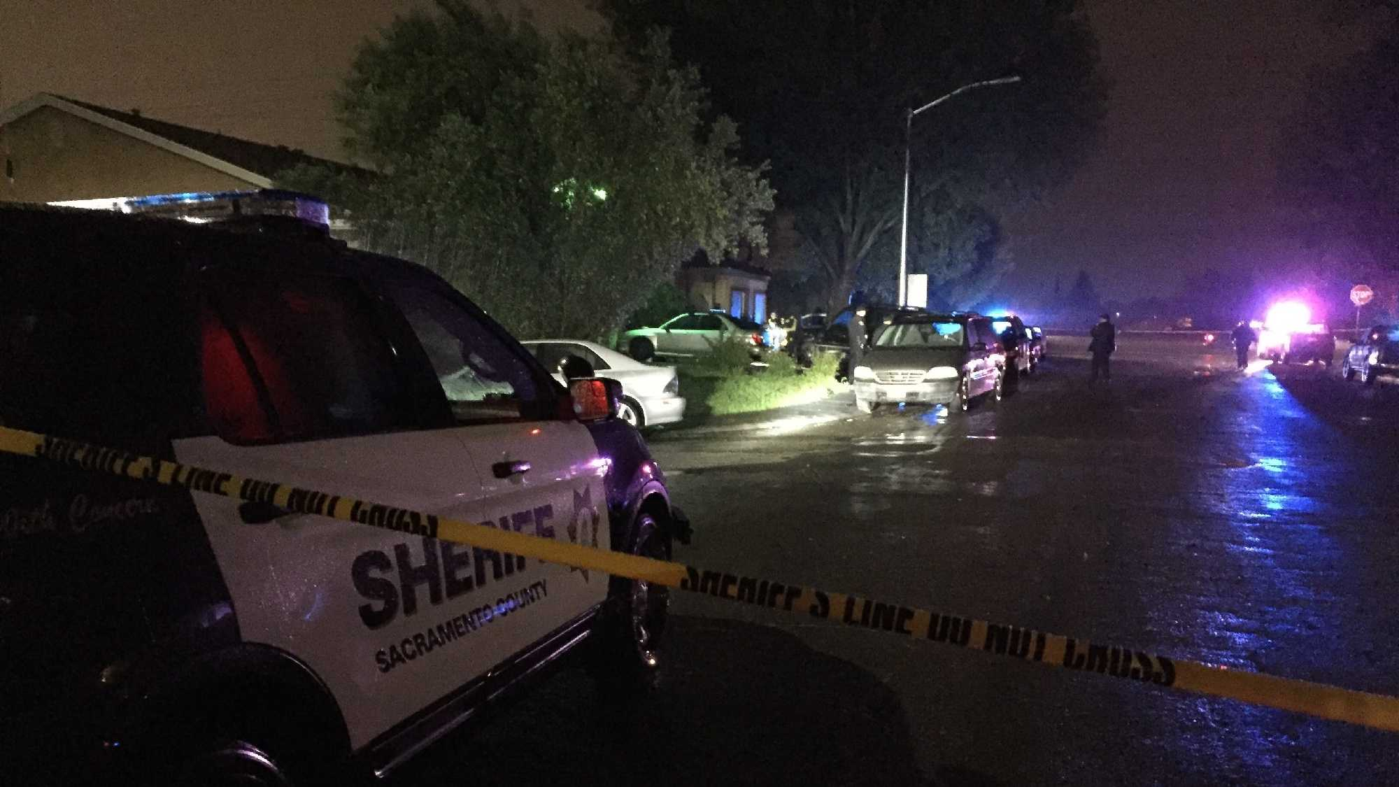 Two men were found shot in a South Sacramento home's front yard on the 8000 block of Blackhawk Drive Saturday evening.