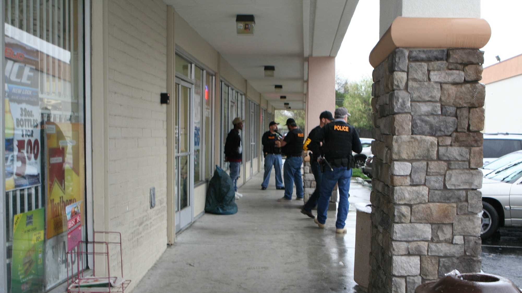 Authorities make an arrest in Fulton Avenue on Saturday as part of a statewide Decoy Tap Operation.