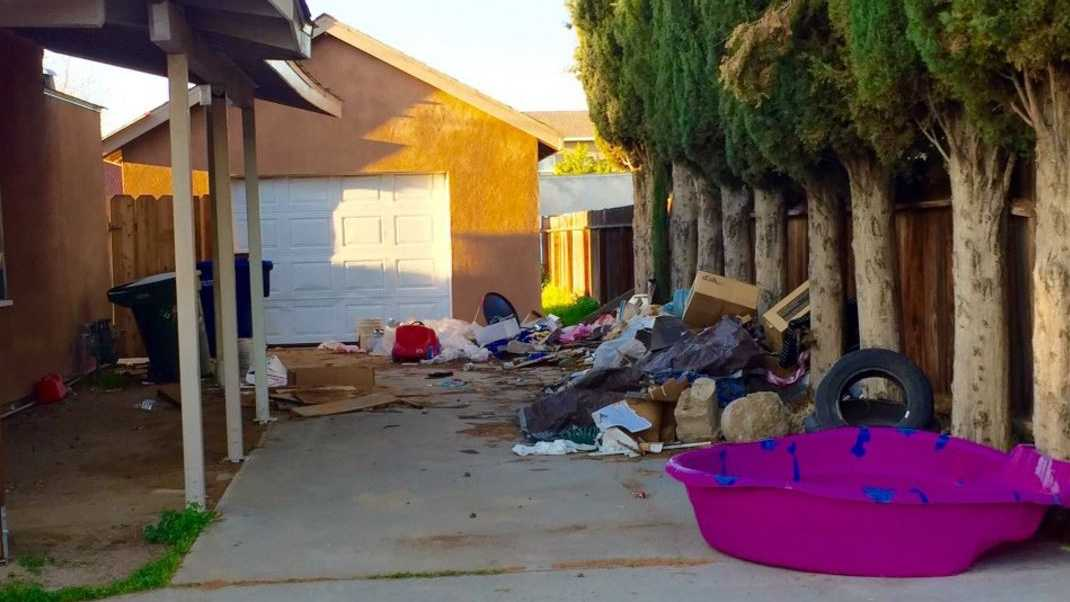 Outside of a Ceres home -- were two children were taken into Child Protective Services and their parents were arrested -- police found were exposed wires, debris, chemicals and building materials. Ceres police said on Wednesday, March 16, 2016, the children were living in unsafe conditions.