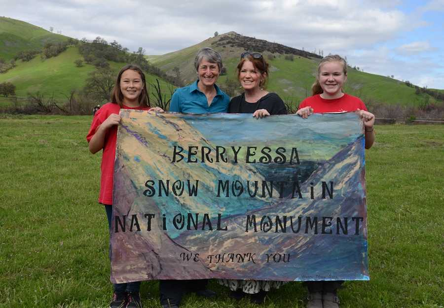 The U.S. Interior Secretary Sally Jewell dedicates Berryessa Snow Mountain National Monument Saturday in Mendocino County.