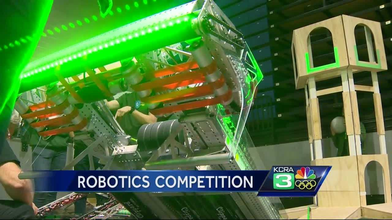 Robotics took center stage at UC Davis Thursday during the First Robotics Sacramento Regional.