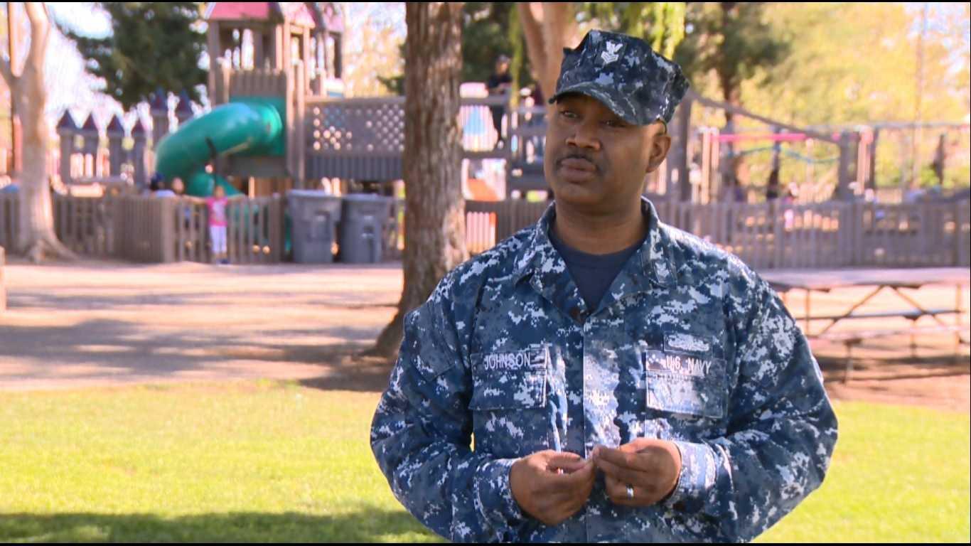 Reggie Johnson, a Navy Petty Officer First Class