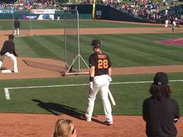 Giants catcher Buster Posey figures to be a big part of their team this year.