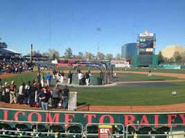 The Sacramento River Cats hosted the San Francisco Giants on Wednesday evening in an exhibition game.