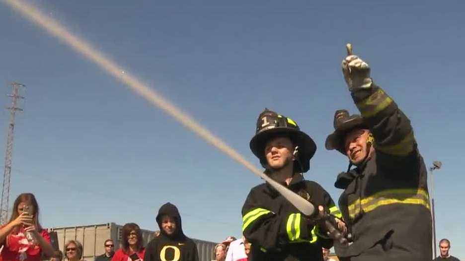 A Stockton boy with brain cancer had his wish granted when he became a firefighter for a day.