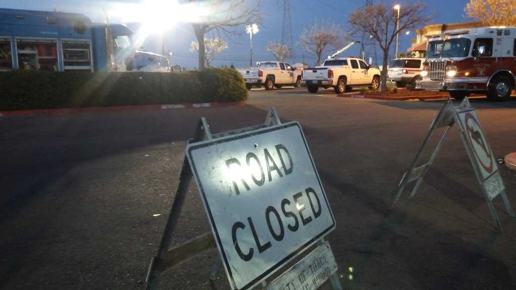 Grant Line Road in Tracy was closed for several hours Thursday, March 31, 2016, because of a gas leak.