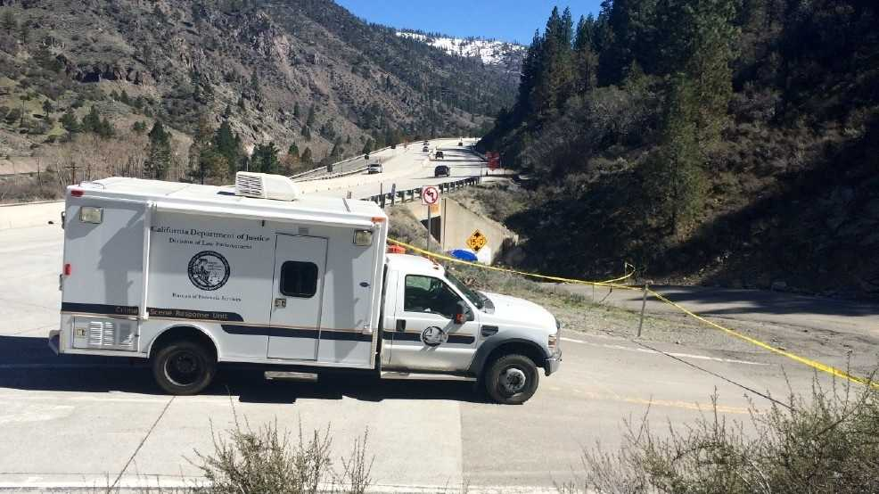 The body of a woman was found on a road underneath Interstate 80 at Farad, California, on Monday, April 4, 2016, according to a captain with the Nevada County Sheriff's Office.