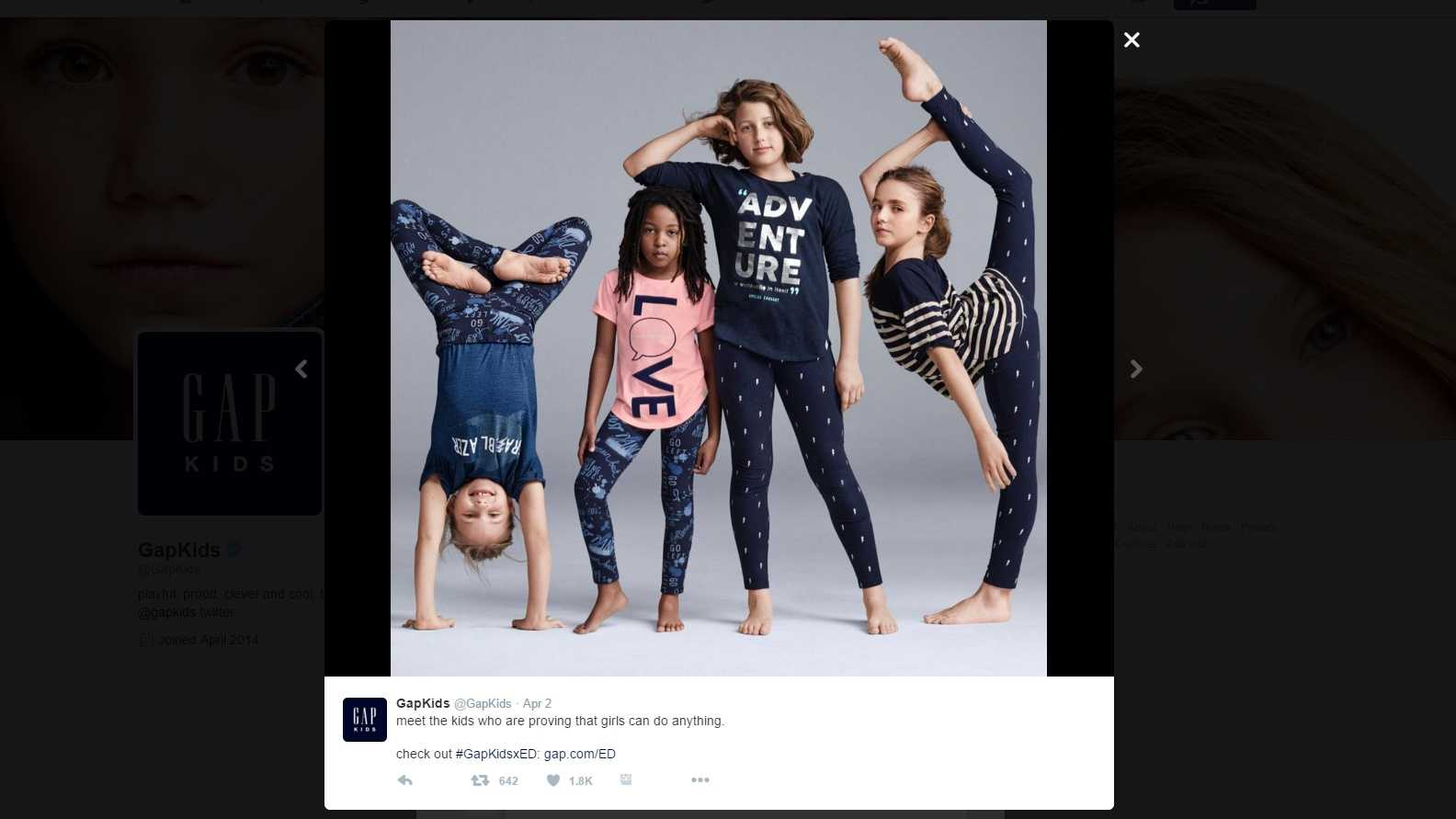 Photo tweeted as part of Gap Kids campaign has led to a debate on race.