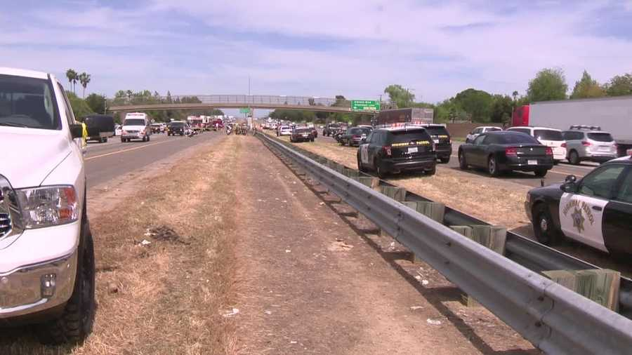 The officer was hit by a vehicle just before 1:20 p.m., the CHP said.