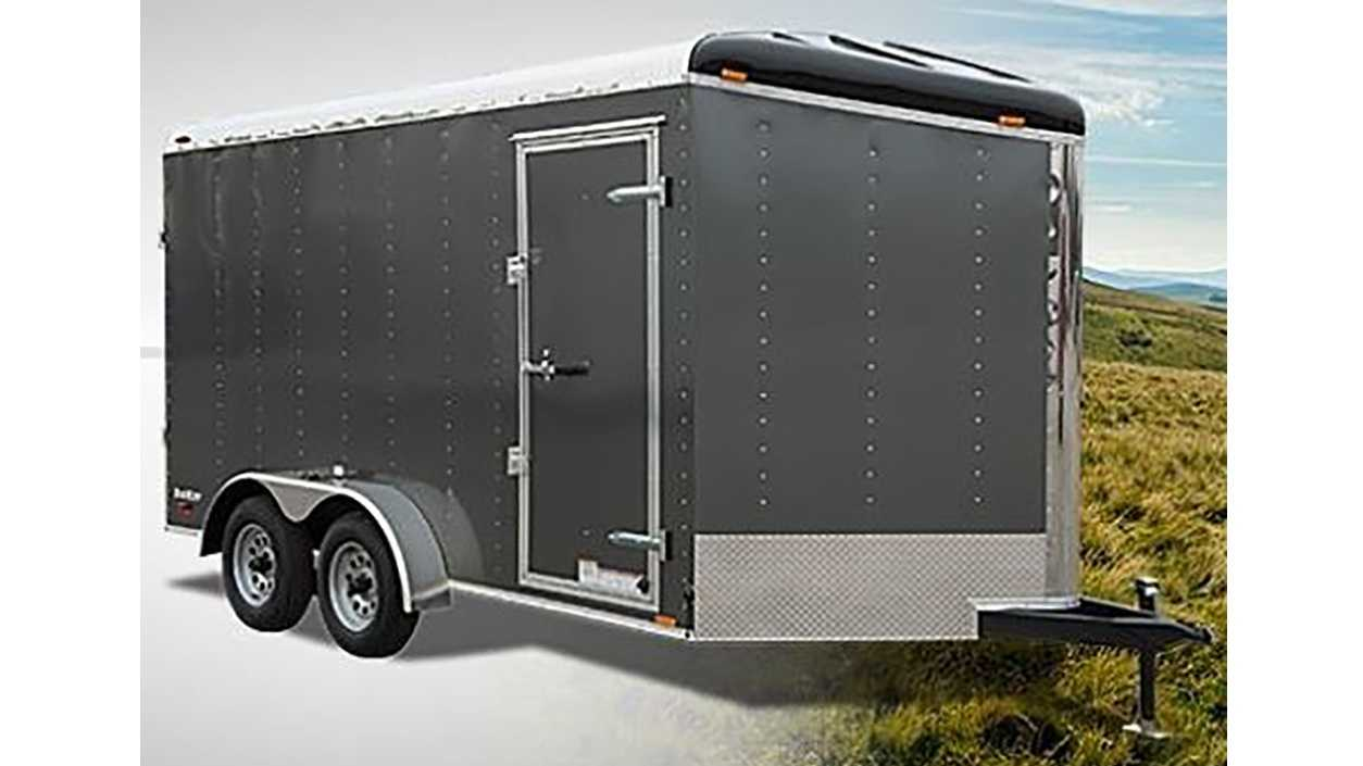 This gray trailer is similar to the one taken from a Roseville church.