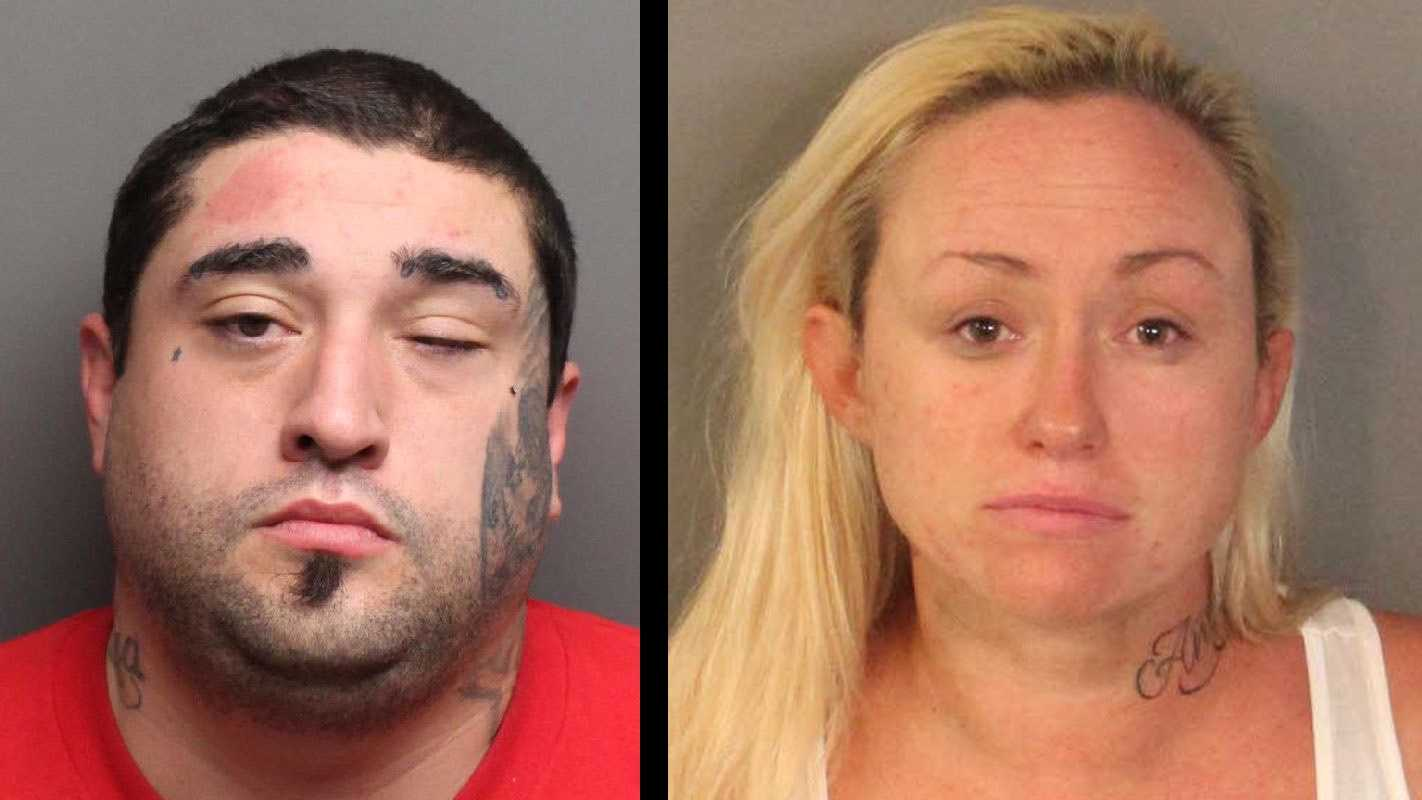 Anthony Manuel Najera, 27, (L) and Cora Lee Najera, 29, (R) were arrested Thursday, April 8, 2016, in connection to a stabbing in Auburn, the Placer County Sheriff's Office said.