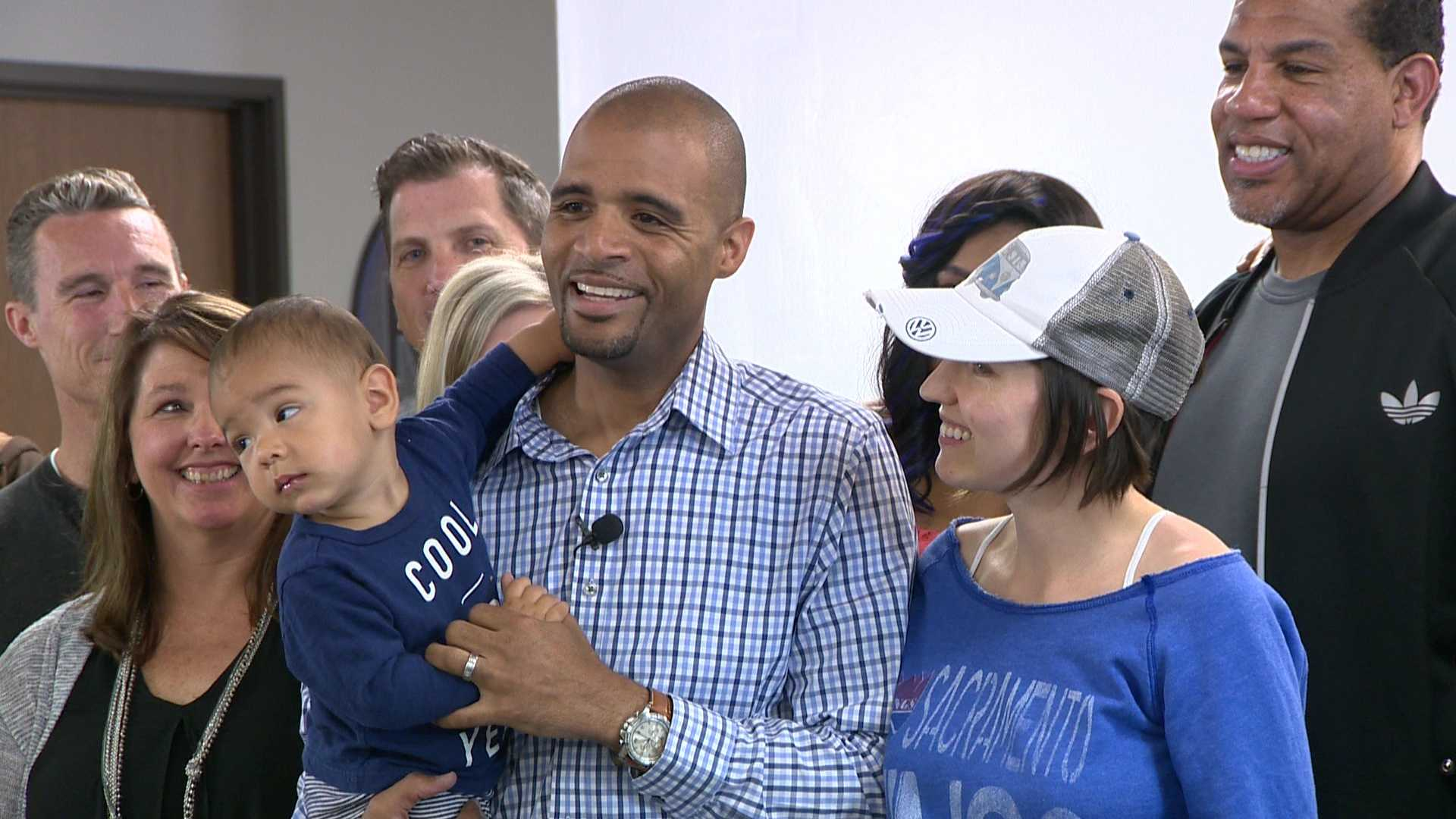 Pastor Joseph Sissac and his wife announced Tuesday, April 12, 2016, that they will donate a car Sissac won by making a half-court shot to a raffle fundraiser.