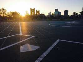 Kids can test out their power and hit it out of the park toward the Tower Bridge and downtown Sacramento.