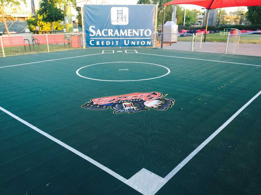 4. Wiffleball field: Just like it's big brother organization, the River Cats' ballpark now features a wiffleball field in the Down on the Farm area in right field.