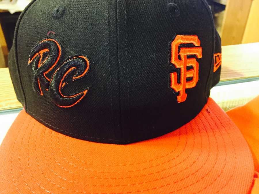 Continuing the orange theme for fans, the River Cats are cashing in on their affiliation with the San Francisco Giants with this side-by-side logo hat featuring both teams.