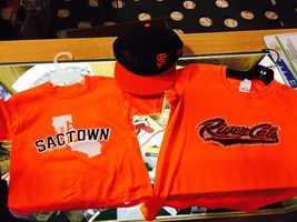 The team store is filling up with plenty of orange and black for River Cats and Giants fans alike.