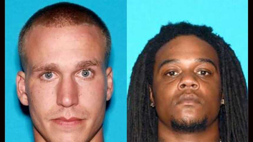 Kyle Matthew Amos, 28, of Fairfield (left) and Demetrius Lamar Kelly, 26, of Suisun City (right) are wanted by police in connection to the April 6 shooting death of La Angelo Darnell Stroughter, 28.