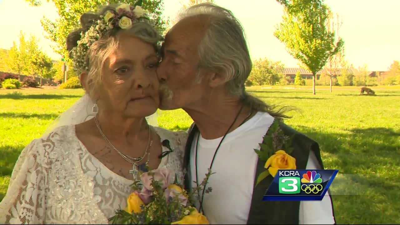 A couple in Auburn with all the odds against them are celebrating a new life together, although one is ending.