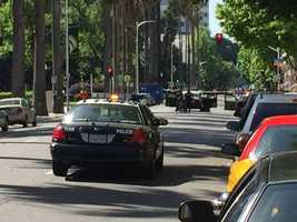 A person barricaded inside of a car blocked L Street, between 10th and 11th streets. The north entrance of the Capitol building was closed and businesses in the area were evacuated as Sacramento police and California Highway Patrol investigated the case.