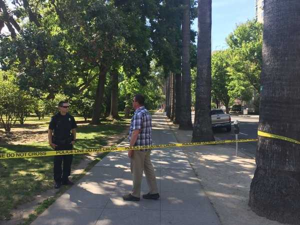 The northern area of the Capitol grounds have been closed off by Sacramento police on Monday, April 18, 2016.
