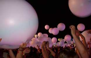 16.) One of the coolest concerts I've been to was Arcade Fire at Coachella in 2011. They had LED balloons with colored lights that were coordinated with the music.